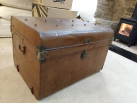 Metal chest coffee table or storage box