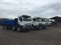 Daf Renault Hino 8 wheel tippers for sale