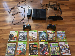Xbox 360 S 250gb, Kinect Package w/11 games