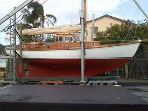 Huon Pine Gaff Rigged Cutter - Sail Boat Oyster Bay Sutherland Area Preview