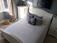 Beautiful double bed frame (brand new mattress also available)