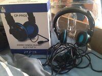 PS3 stereo gaming head set.