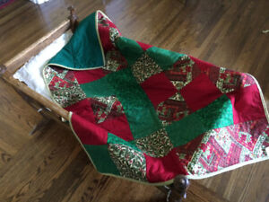 Christmas Baby Quilt,Toddler Quilt,Crib Quilt,Christmas Gift