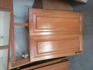 Kitchen cabinet with glass doors and countertop for sale