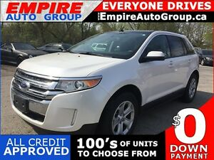 2013 FORD EDGE SEL * 1 OWNER * LEATHER * SUNROOF * NAV * REAR CA