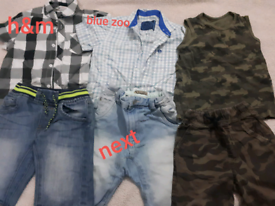 Boys shirts shorts demin jeans camouflage set 5-6 bundle summer holida