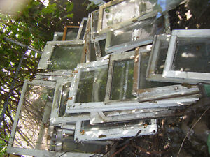 OLD WOOD WINDOWS - CHEAP! GRAB THEM WHILE YOU CAN.