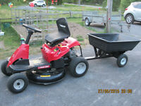 "Troy-Bilt 30"" Neighbourhood Rider and trailer"