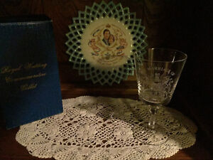 Collectable Plate and glass (Royal Wedding)