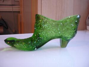 Vintage Fenton Art Glass shoes