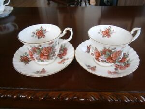 ROYAL ALBERT CENTENNIAL ROSE TEACUPS AT $9.00 EACH