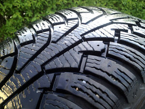4 NOKIAN WINTERS w/ 5 x 114.3  RIMS 215 60 17  SEE VIDEO