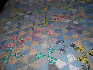 PATCH QUILT HAND QUILTED SIZE DOUBLE BED 59'' X 70''