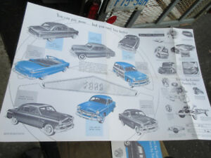 1951 FORD  AD FOLD OUTS (TWO ADS)