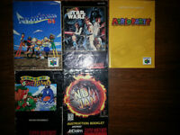 N64 and SNES Game Instruction Booklets **NO CARTRIDGES**