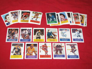 80 different 1974-75 Loblaws hockey sticker/stamps