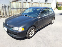 1995 Honda Civic DX hatchback for repair / parts / ice racer