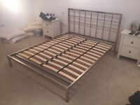 Mirrored King Size Bed