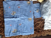 Crib quilt set with covers