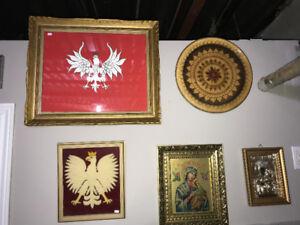 ALL ORIGINAL POLAND POLISH ASSORTED PRINTS & PLATES