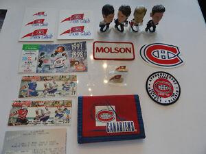 """Items de collection des """" Canadiens de Montréal """", à vendre."""
