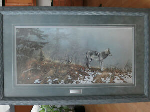 Wolf Print Stephen Lyman  Limited Edition Silent Snows