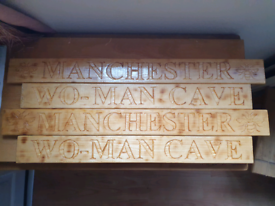 Large wooden plaques