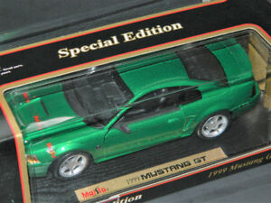 Maisto 1/18 1999 Ford Mustang GT Diecast Car Green