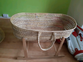 Moses Basket with Craddle