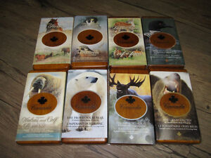 Complete Collection 8 Canada Wildlife Silver Coin & Stamp Sets