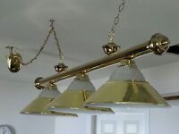Polished Brass Billiard Table Light Fixture  URGENT!