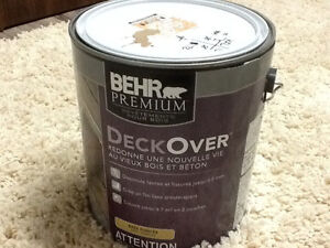 DECKOVER STAIN FOR WOOD. OR CONCRETE