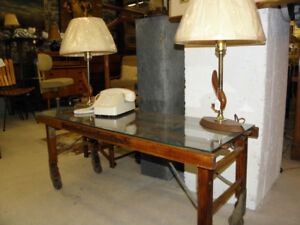 Vintage Retro Shabby Chic Industrial Coffee Table Washstand