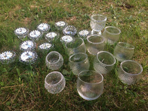 Vintage Glass Candle Holders
