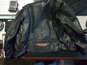 Harley Davidson Men's Black Leather Motorcycle Jacket