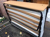 Large folding bed.