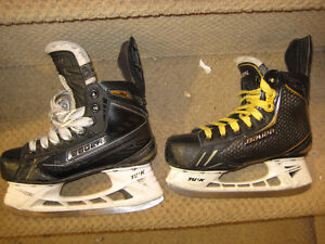 Bauer Supreme and Vapor Top of Line Junior/ Youth Hockey Skates
