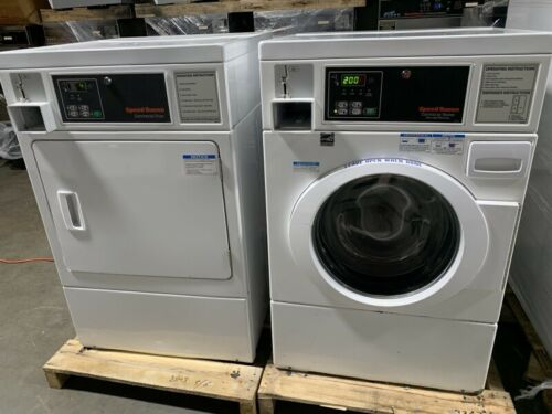 Speed Queen commercial front load washer & gas dryer coin operated set [Used]