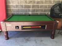ASCOT SLATE BED POOL TABLE 6FT X 3FT WITH BALLS AND QUEUES