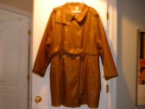 Bran new brown leather coat from Pennington