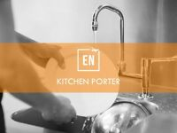 KITCHEN PORTERS wanted for restaurants in LONDON. Immediate Start!
