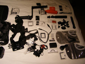 GoPro Hero 4, 64GB, GoPro Extended Battery, All Accessories