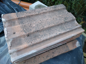 Reclaimed Marley Red Concrete Roof Tiles. Reclaimed