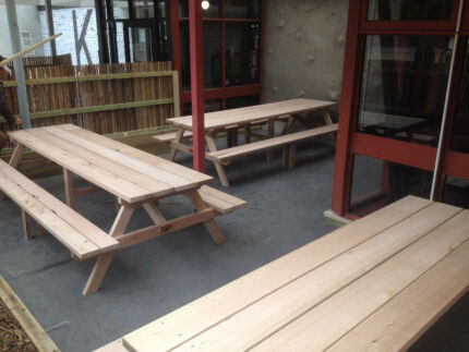 Dressed Hardwood Picnic Tables (5 Sizes) Bayswater Knox Area Preview