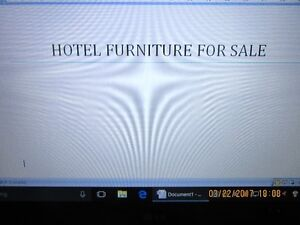 HOTEL FURNITURE FOR SALE - CALL 386-1987