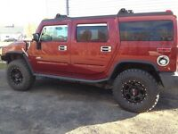 2003 HUMMER H2 Wine, black, chrome SUV, Crossover