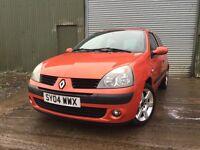 Renault Clio DIESEL 1 years MOT £30 road tax £695