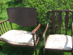ANTIQUE SETEE AND CHAIR