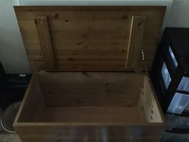 Ottoman/toy storage antique pine