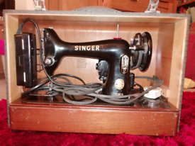 Singer antique electric sewing machine
